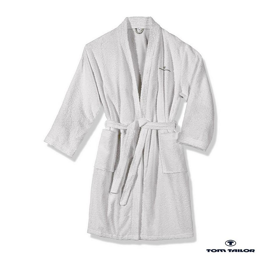 home24 Frottier Kimono Bademantel | Bad > Sauna & Zubehör | Weiss | Textil | Tom Tailor