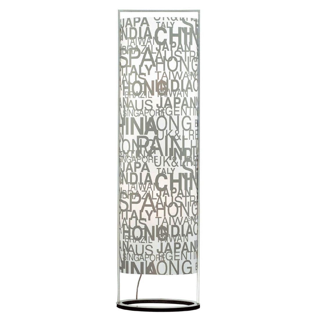 EEK A++, Lampadaire Sign - 1 ampoule - Caractères décoratifs - Métal / Plastique - Blanc / Gris, Paul Neuhaus
