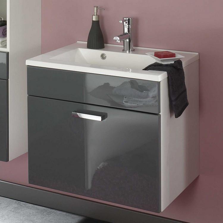 Malaga Waschplatz - Grau/Weiß, Posseik