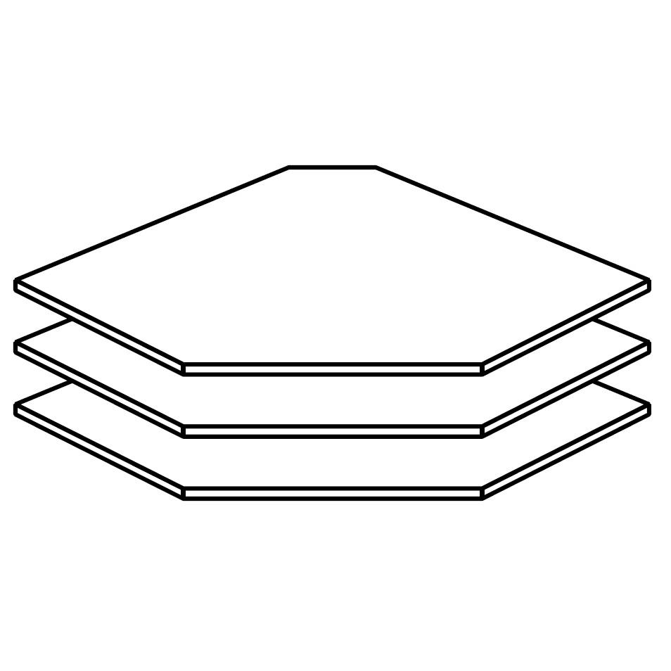goedkoop Planken 3 delige set hoek 91cm breed Rauch Packs