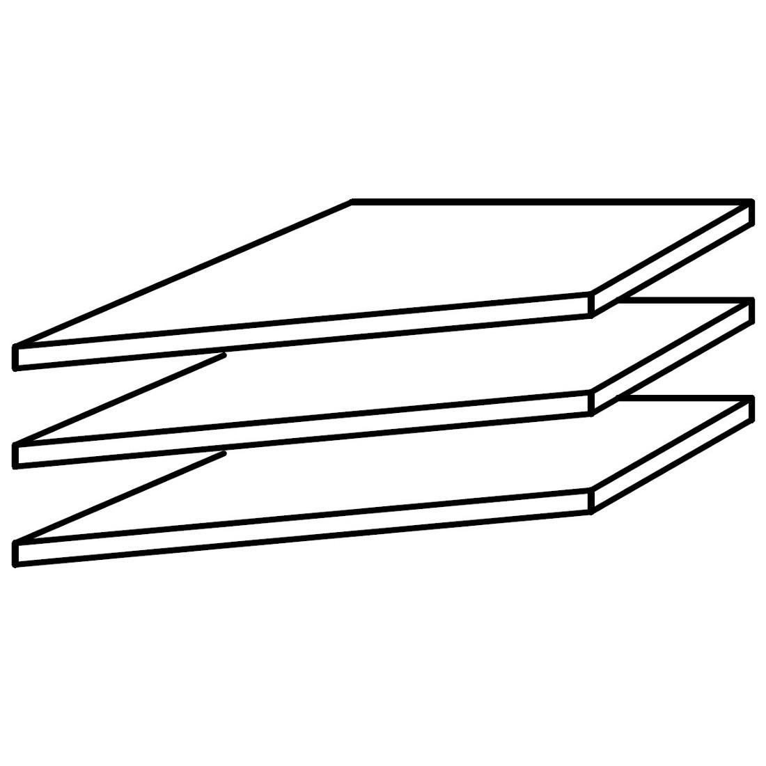 Inlegplank van 39cm voor hoekkast (3-delige set), Rauch Packs