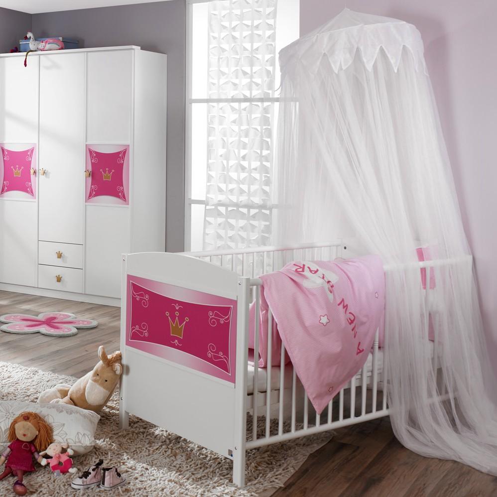 Lit bébé Kate - Style princesse, Rauch Packs