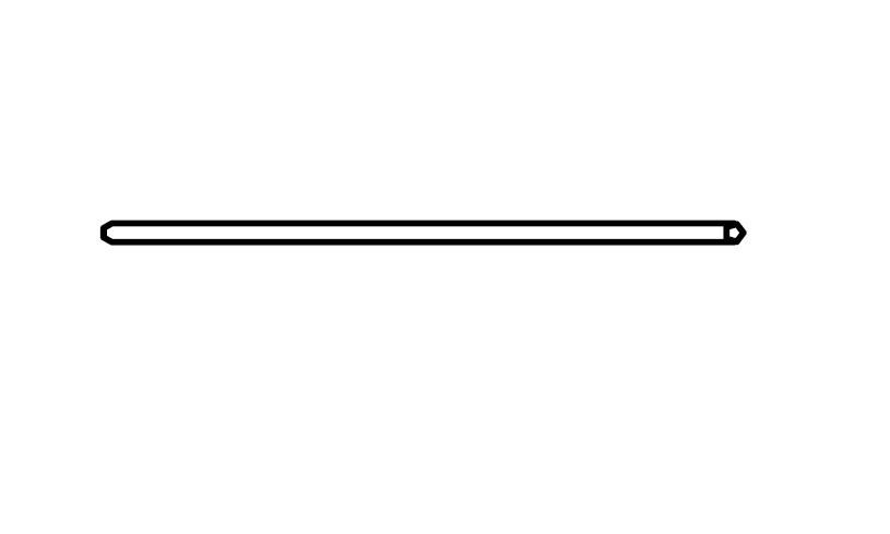 Kledingroede voor kastelementen met een breedte van 90cm, Rauch
