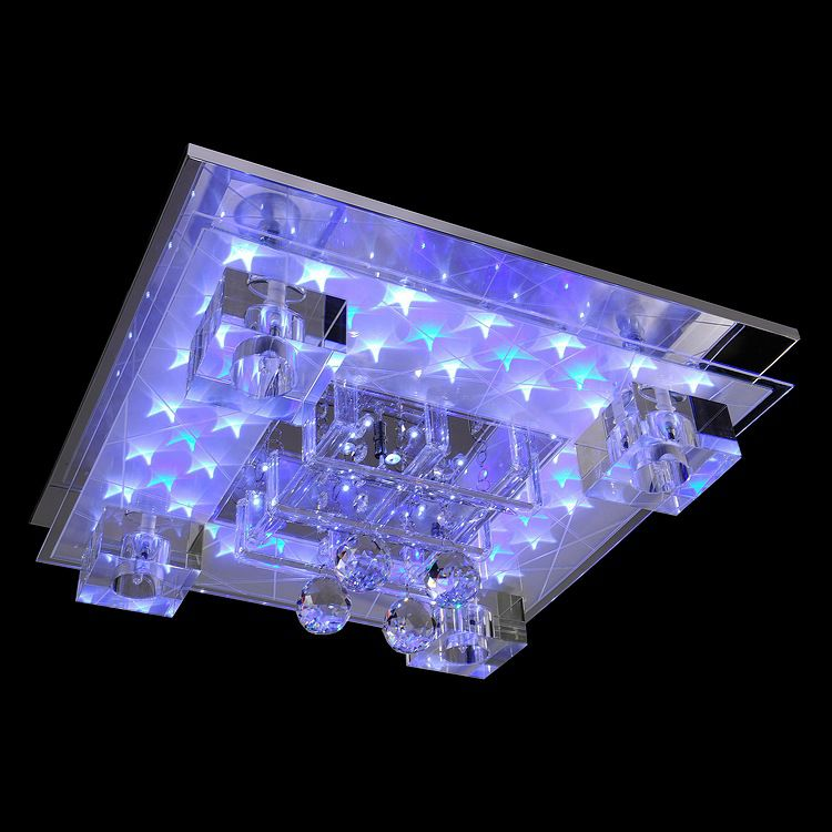 Led-deckenleuchte Roxane Kaufen - Metall/glas Chrom 45x66 Cm