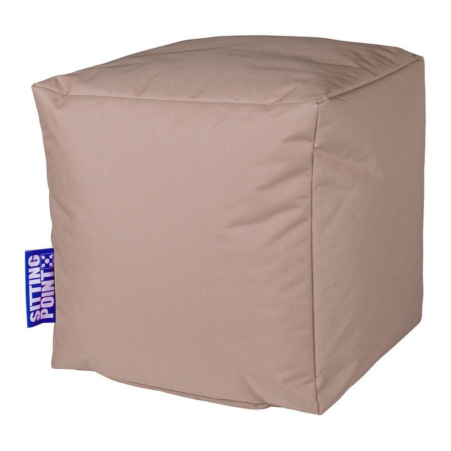 home24 Sitzwuerfel Scuba Cube | Wohnzimmer > Hocker & Poufs > Sitzwürfel | Beige | SITTING POINT