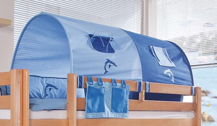Stofftunnel blau/Delfin Relita - 2-er - Baumwolle, Relita