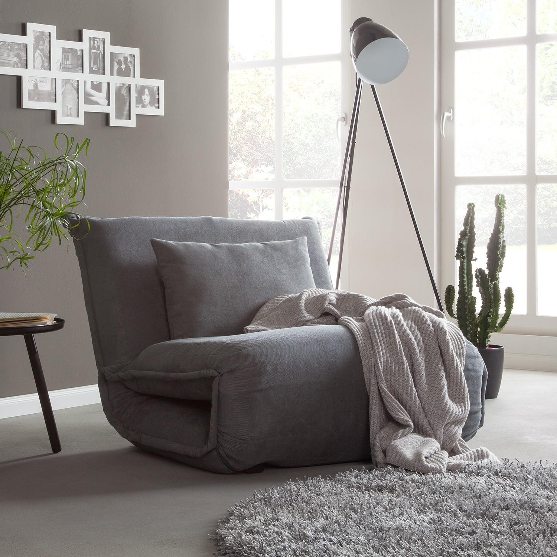 home24 Schlafsessel Jake Microfaser | Schlafzimmer > Schlafsofas > Schlafsessel | Grau | Textil | Fredriks