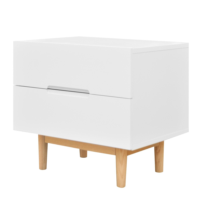 Nachttisch für Boxspringbett in skandinavisch weiß