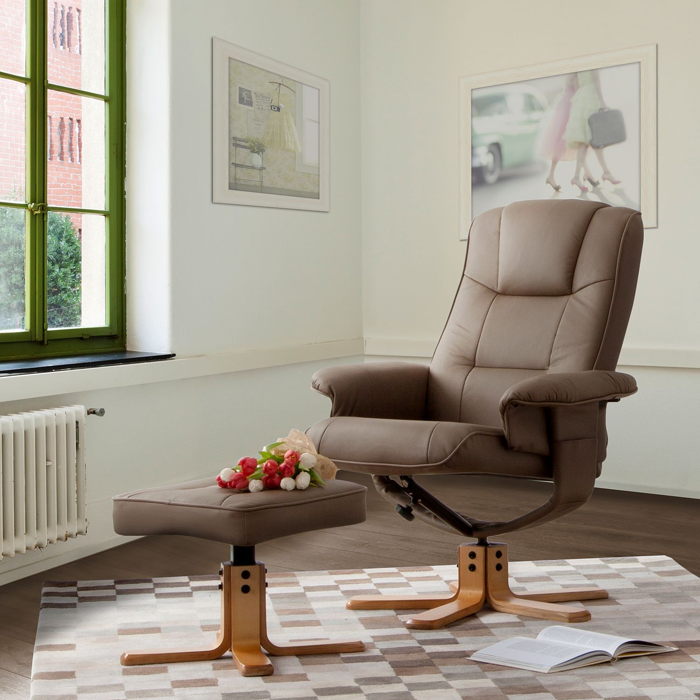 Poltrona relax Cosimo (con sgabello), home24