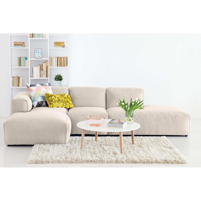 Ecksofa Hudson VIII Webstoff | Wohnzimmer > Sofas & Couches > Ecksofas & Eckcouches | Beige | Textil | Studio Copenhagen