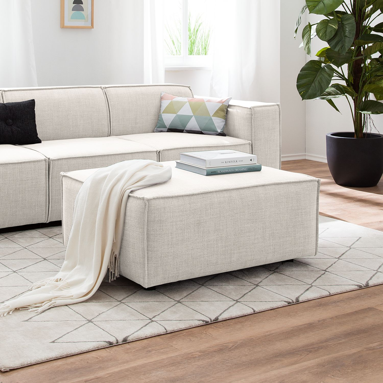 Polsterhocker Kinx Webstoff   Wohnzimmer > Hocker & Poufs > Polsterhocker   Weiss   Textil   KINX
