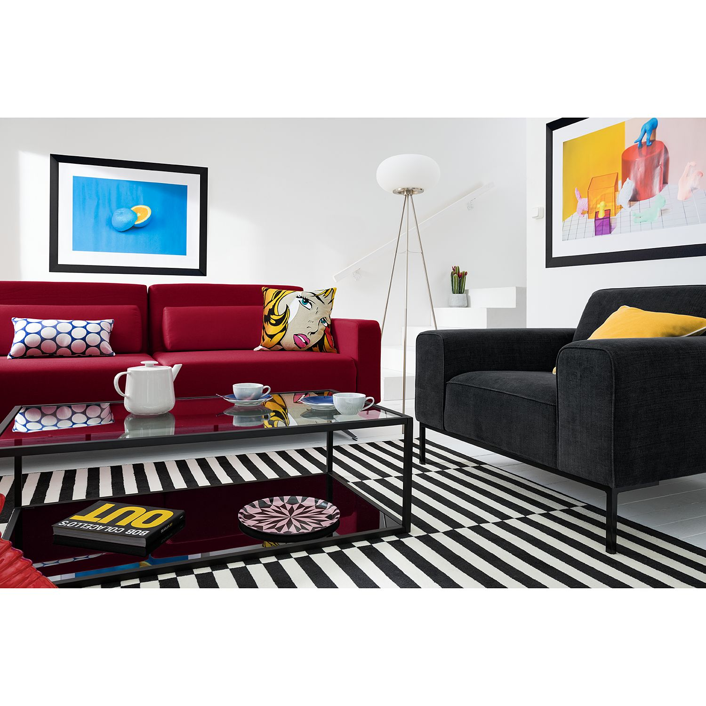 home24 Studio Copenhagen Sessel Ampio Anthrazit Webstoff 102x77x93 cm (BxHxT)