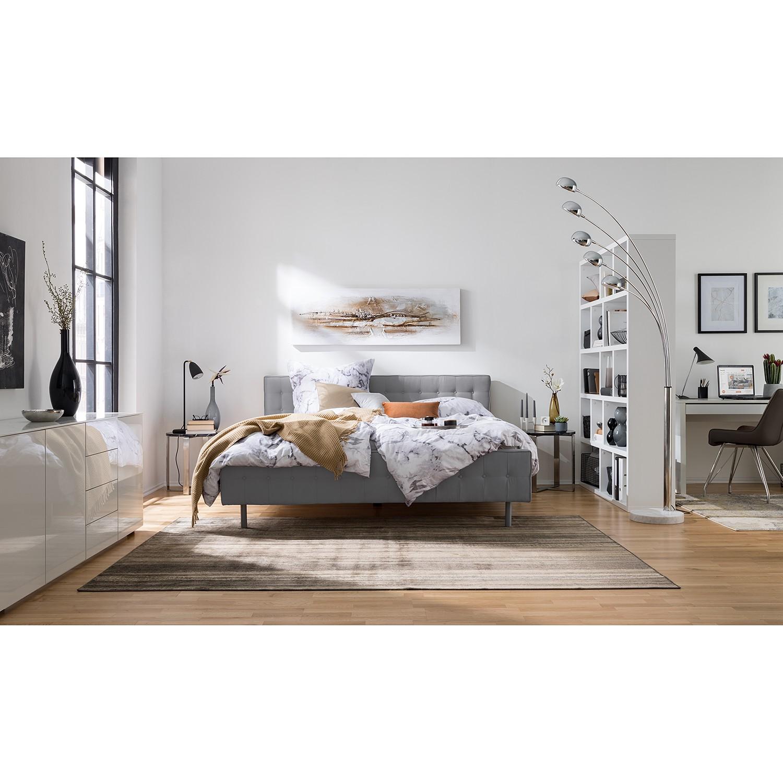 home24 Fredriks Polsterbett Chelsea 160x200 cm Webstoff Silber Modern   Schlafzimmer > Betten > Polsterbetten