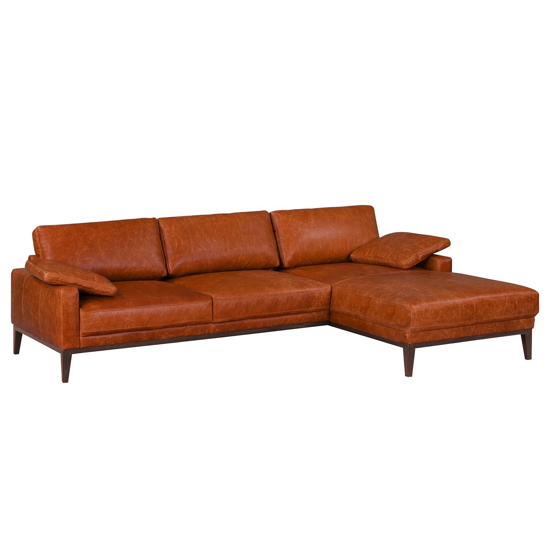 Canapé d'angle Horley I Cuir véritable