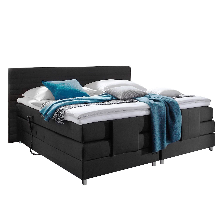 Schlafzimmermöbel - Boxspringbett Belaja (mit Elektromotor) - loftscape - Schwarz