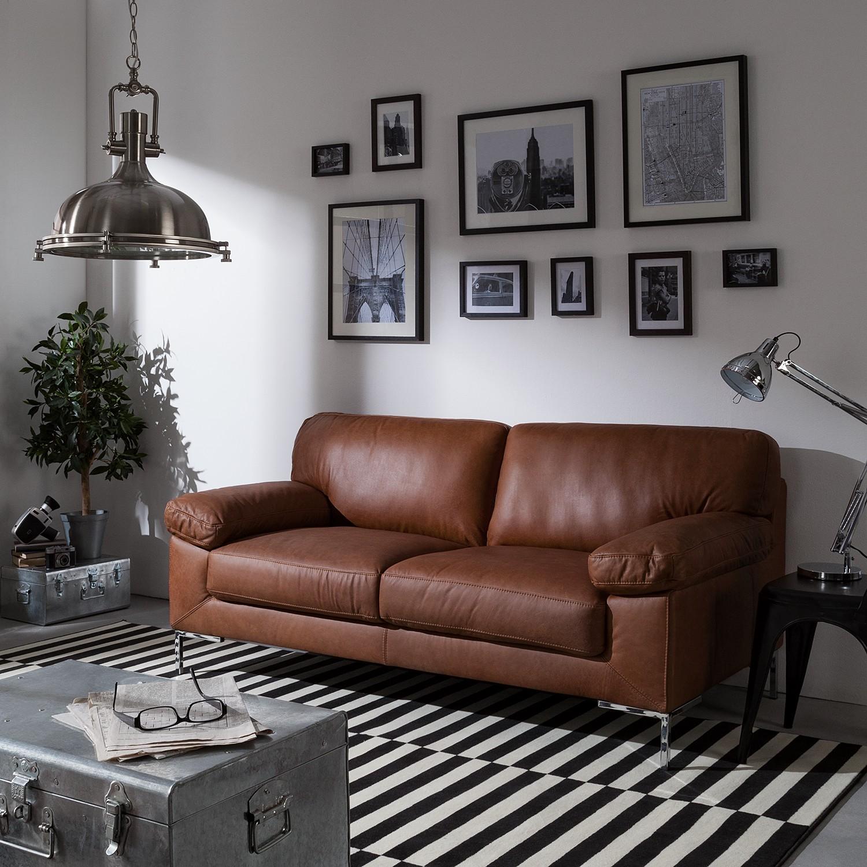 home24 Sofa Parlin (2,5-Sitzer) Echtleder