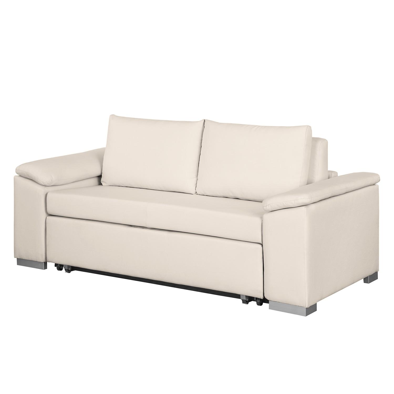 home24 mooved Schlafsofa Latina IV Creme Webstoff 190x90x90 cm (BxHxT) mit Schlaffunktion/Bettkasten Modern