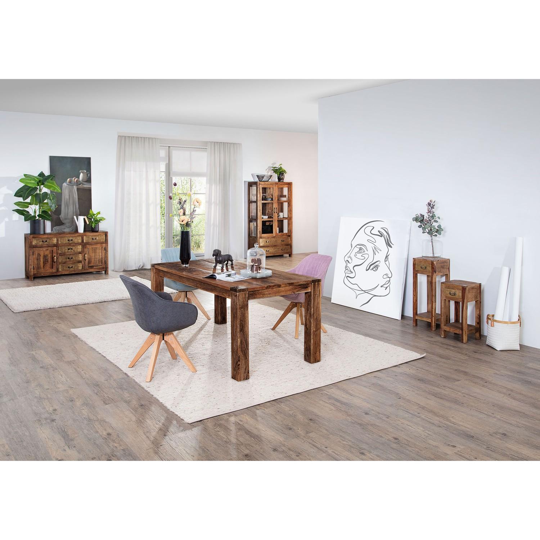 home24 ars manufacti Esstisch Pintage Massivholz Mango Rechteckig Tabakbraun 180x76x90 cm (BxHxT) Industrial für 6-8 Personen