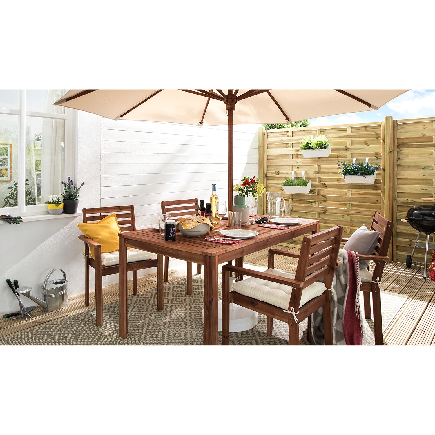 home24 In-/Outdoor-Teppich Raute