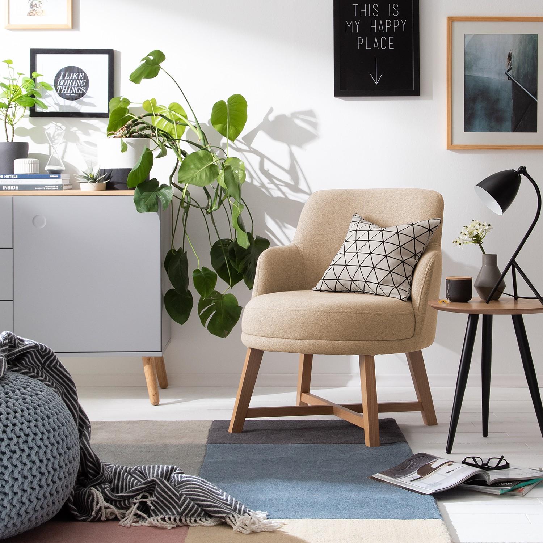 home24 Mørteens Sessel Siabu Warmes Beige Filz 67x79x68 cm (BxHxT)