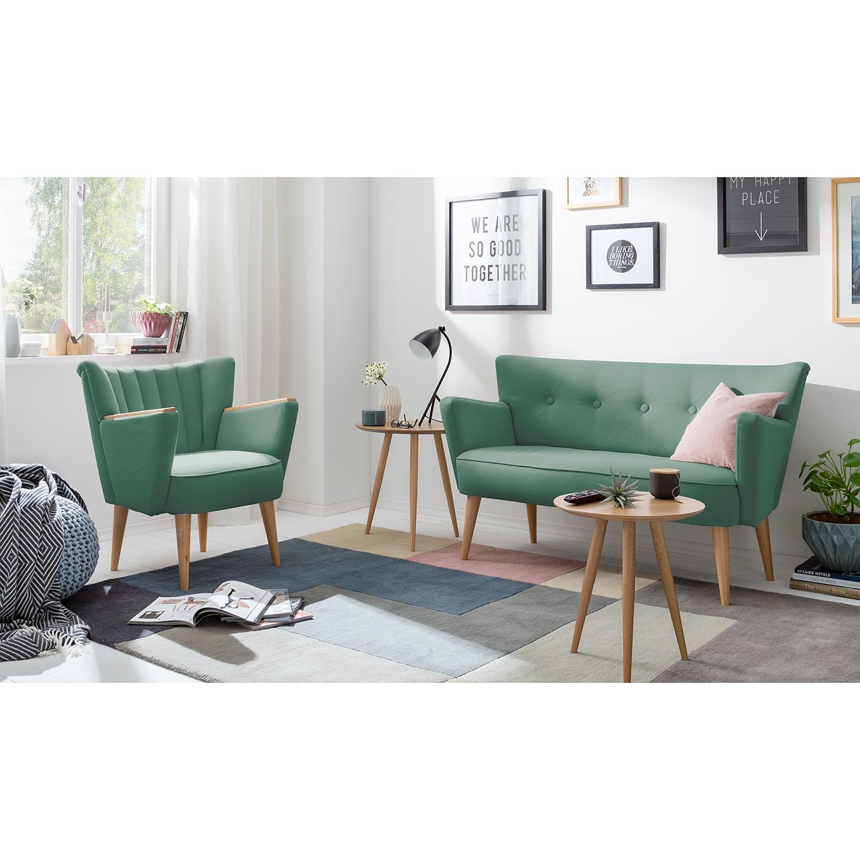 home24 Mørteens Sessel Bauro Mintgrau Webstoff 75x80x64 cm (BxHxT)