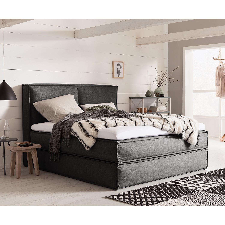 Schlafzimmermöbel - Boxspringbett Kinx - KINX - Grau