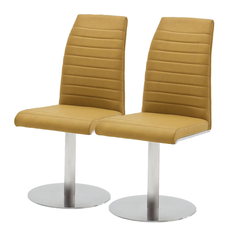 home24 Drehstuhl Levittown (2er-Set)   Büro > Bürostühle und Sessel    Gelb   loftscape