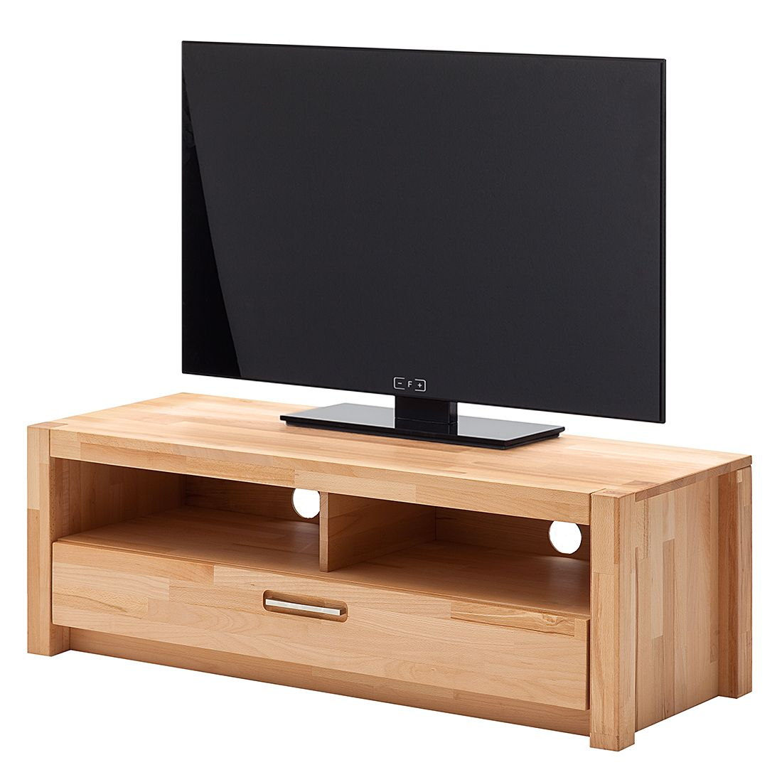 home24 Ars Natura TV-Lowboard Majona Massive Kernbuche 125x43x46 cm (BxHxT)