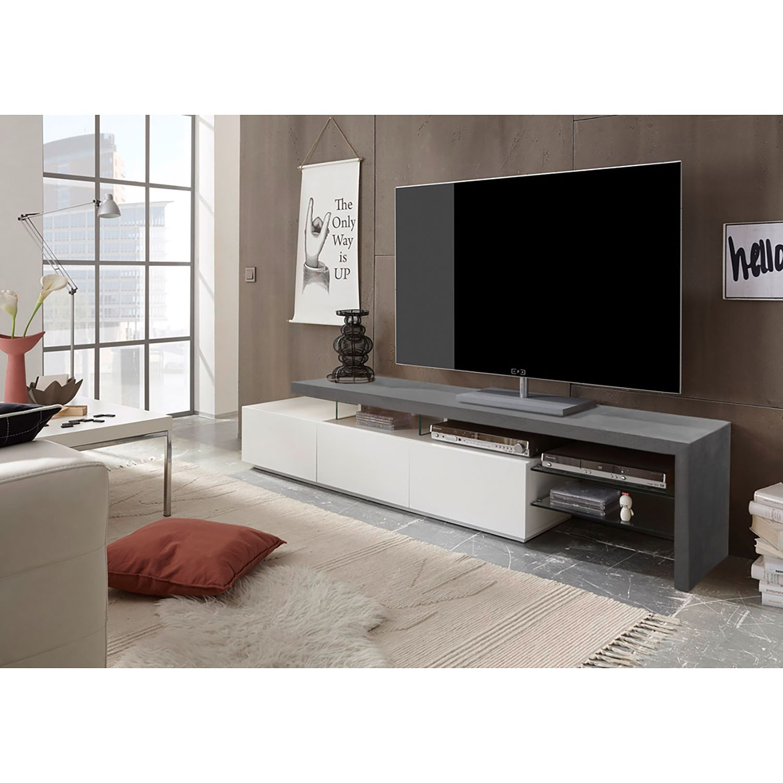 home24 TV-Lowboard Molios II | Wohnzimmer > TV-HiFi-Möbel | Weiss | Fredriks