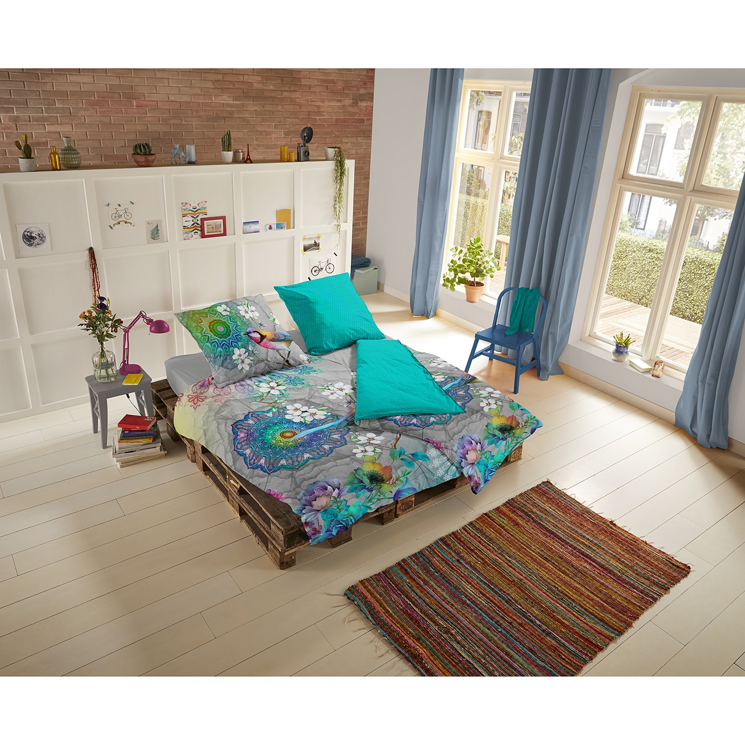 home24 Mako-Satin-Bettwaesche Adele