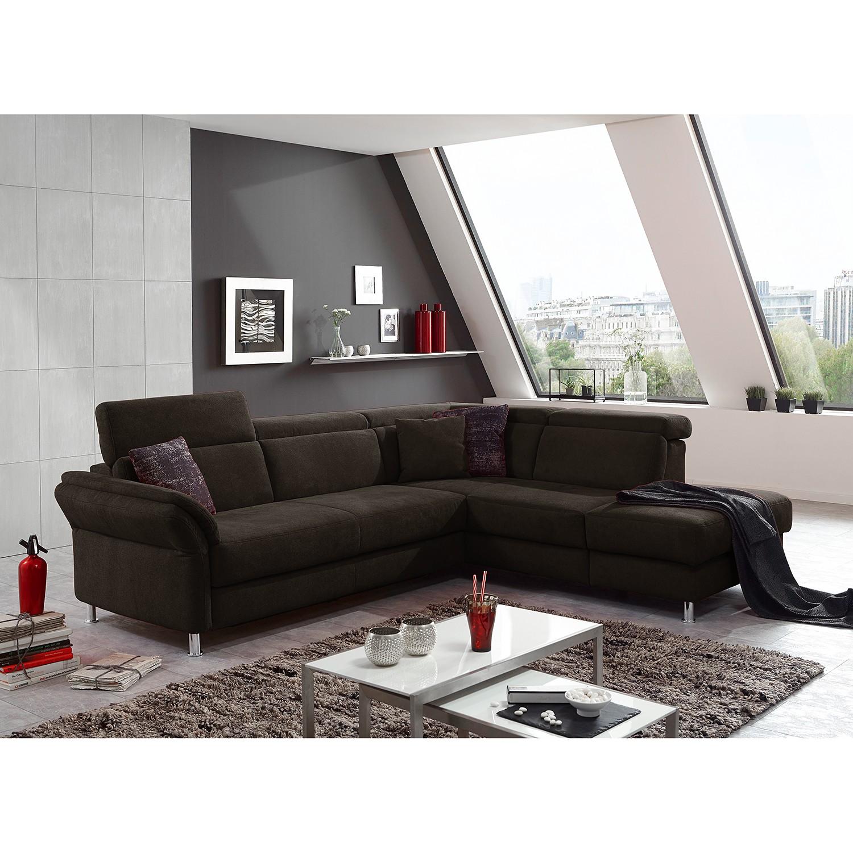 home24 Fredriks Ecksofa Calang Espresso Webstoff 267x97x228 cm (BxHxT) mit Schlaffunktion/Bettkasten Modern