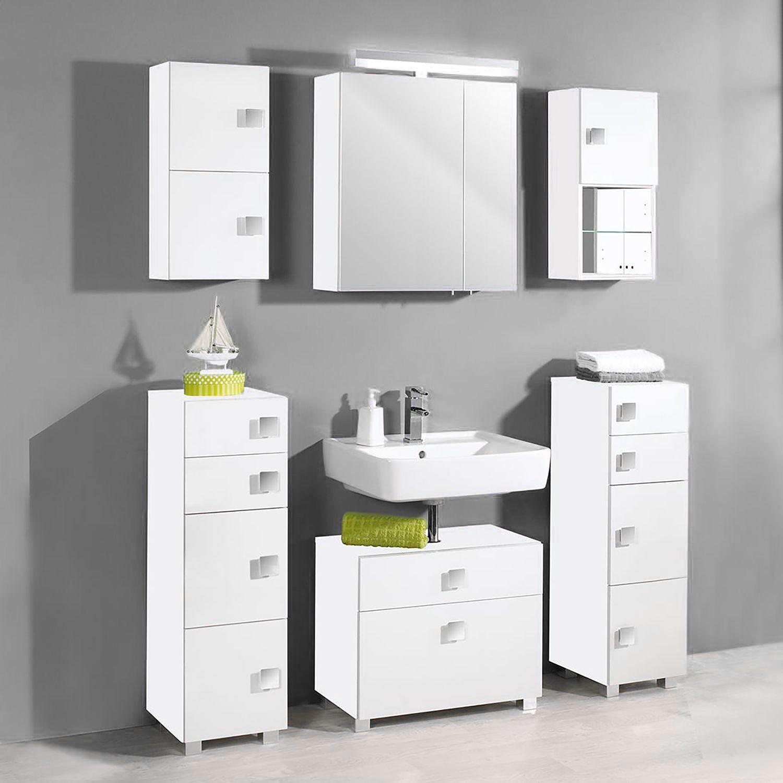 home24 Waschbeckenunterschrank Genf | Bad > Badmöbel | Grau | Holzwerkstoff | Schildmeyer