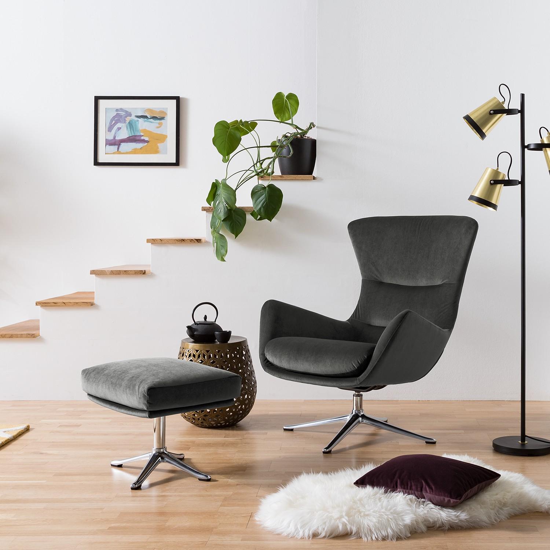 home24 Polsterhocker Hepburn III | Wohnzimmer > Hocker & Poufs > Polsterhocker | Grau | Studio Copenhagen