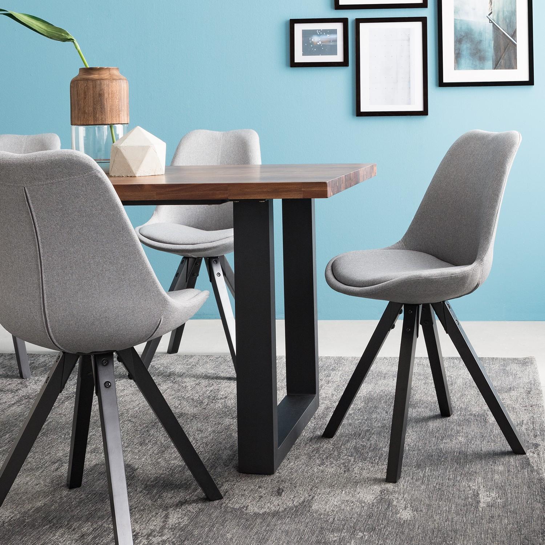Home24 Gestoffeerde stoelen Aledas V, Moerteens
