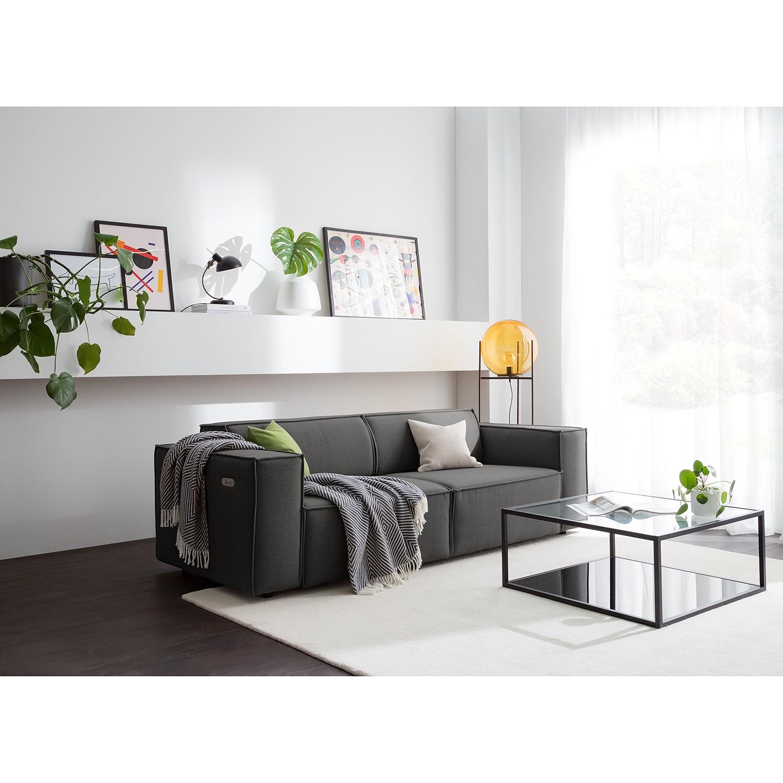 KINX Sofa Kinx 2,5-Sitzer Anthrazit Webstoff 223x70x96 cm