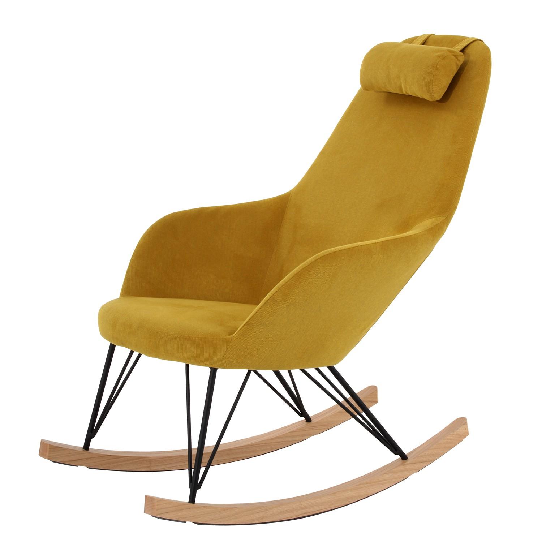 home24 Schaukelsessel Dorris   Wohnzimmer > Sessel > Schaukelsessel   Gelb   Textil   Moerteens