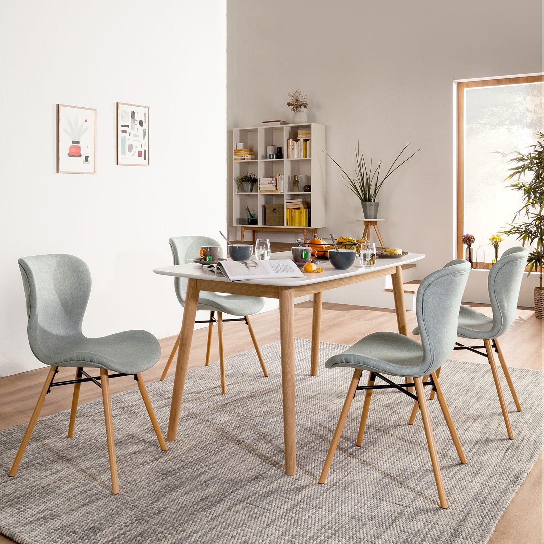Home24 Gestoffeerde stoelen Livaras, Moerteens