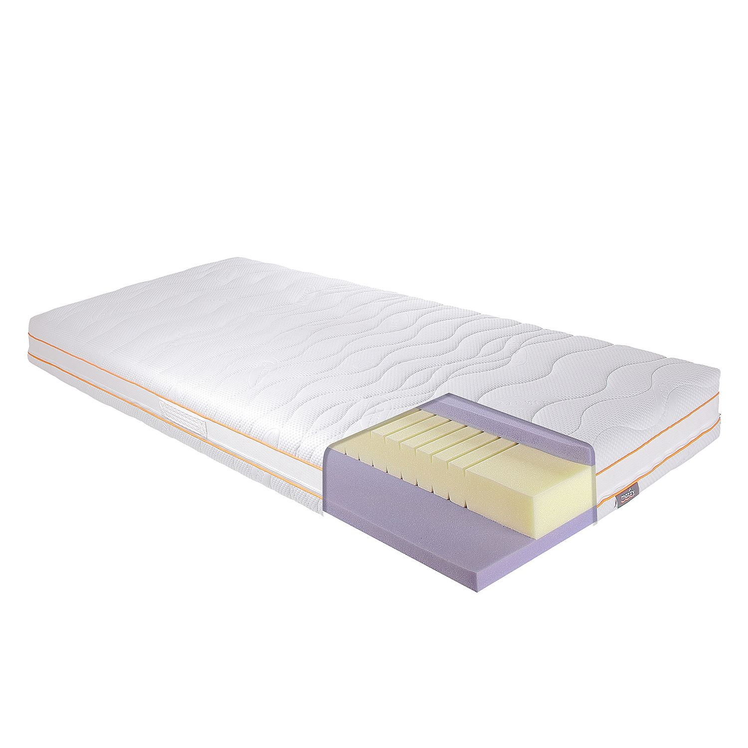 Matelas en mousse confort gel 7 zones de