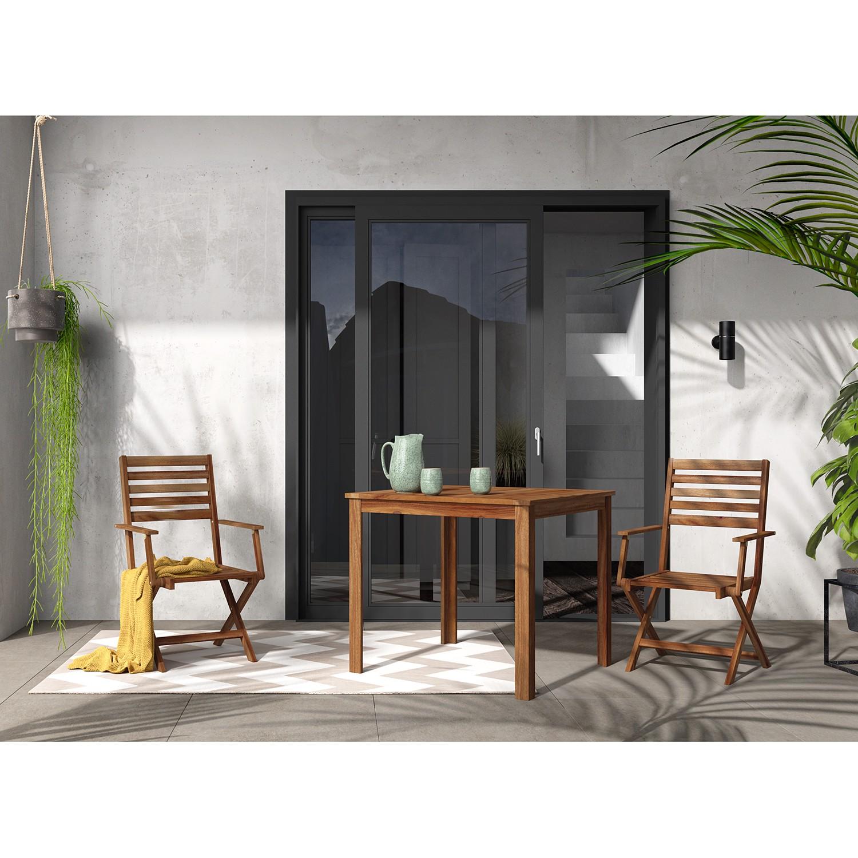 Klappstuhl Mimo II (2er-Set) | Küche und Esszimmer > Stühle und Hocker > Klappstühle | Braun | Massivholz | Jardi