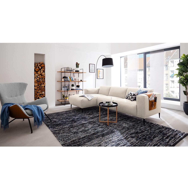 home24 Studio Copenhagen Ecksofa Crawford I Beige Webstoff 255x77x147 cm