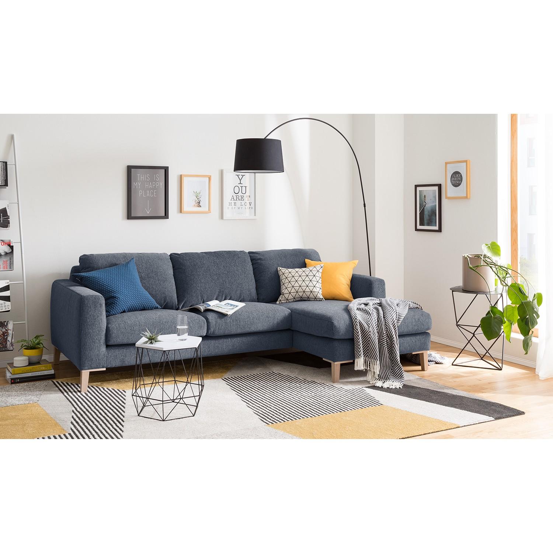 home24 Ars Natura Ecksofa Berilo I Graublau Strukturstoff 248x85x158 cm