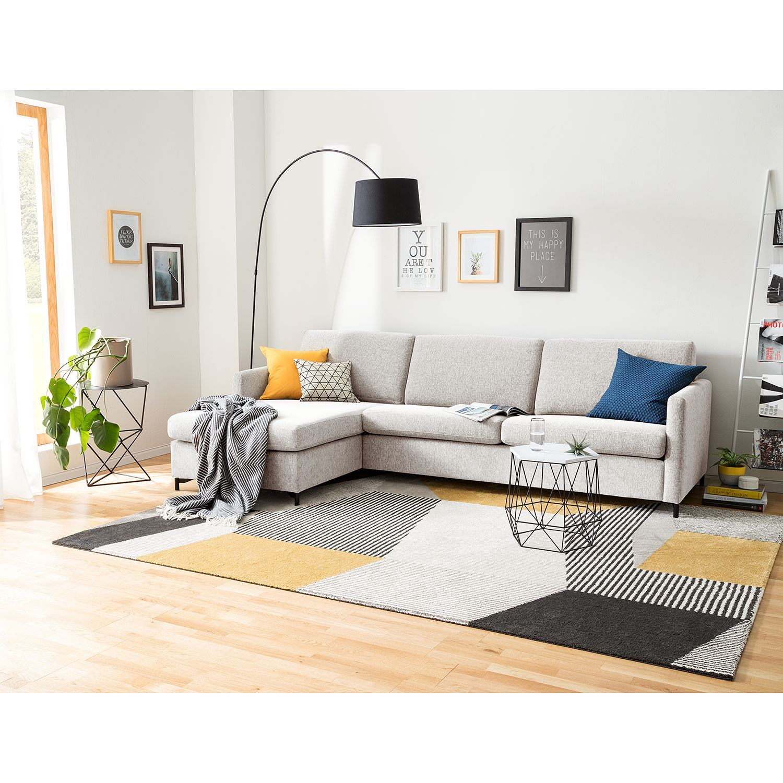 home24 Fredriks Ecksofa Cipo I Kies Strukturstoff 297x82x156 cm