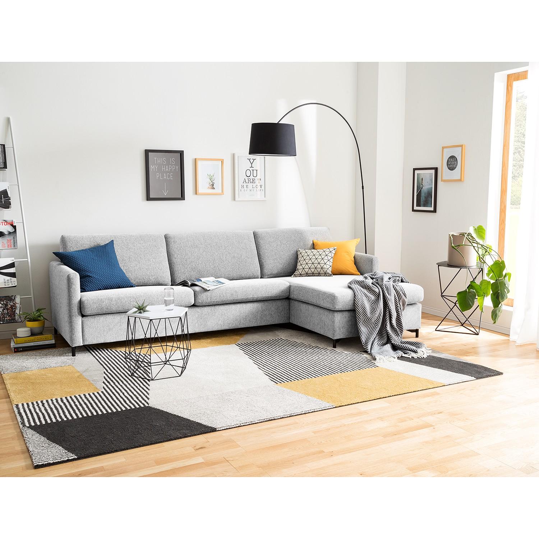 home24 Fredriks Ecksofa Cipo I Platingrau Strukturstoff 297x82x156 cm