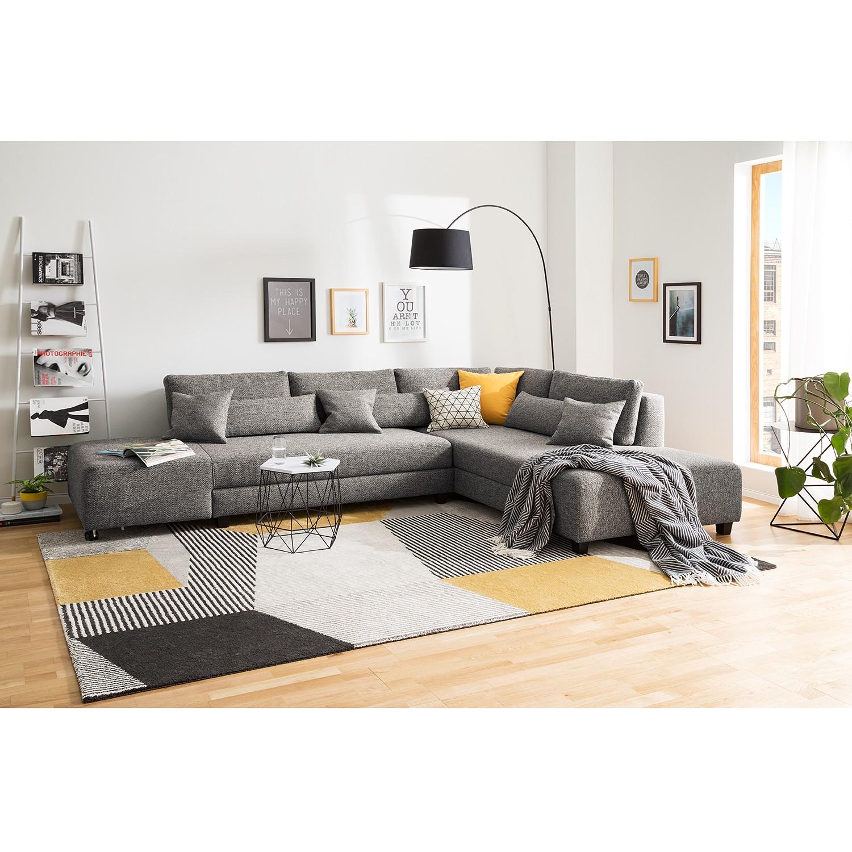 home24 Fredriks Ecksofa Apex Haselnuß Webstoff 305x82x221 cm mit Schlaffunktion