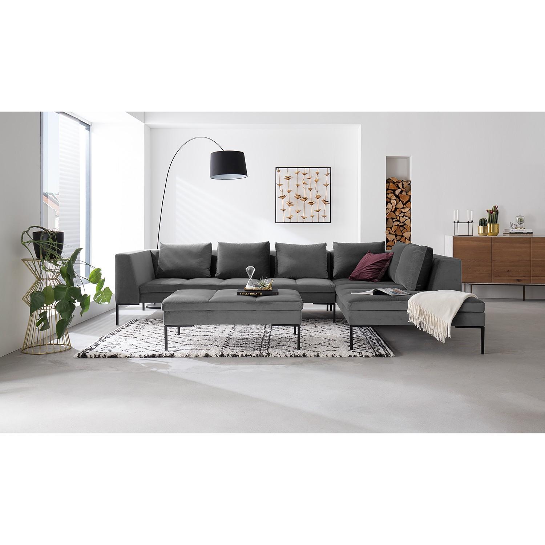 Ecksofa Madison Samt | Wohnzimmer > Sofas & Couches > Ecksofas & Eckcouches | Grau | Textil | Studio Copenhagen