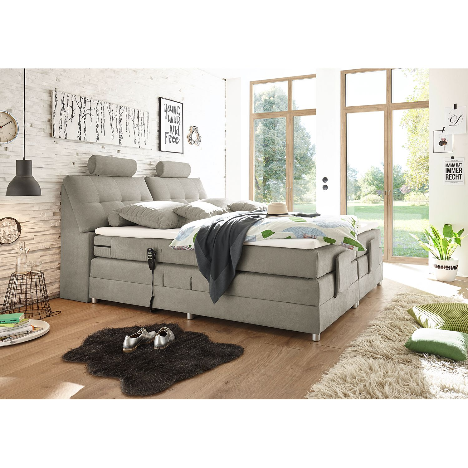 Home24 Boxspring Neiras (incl. topper), Fredriks
