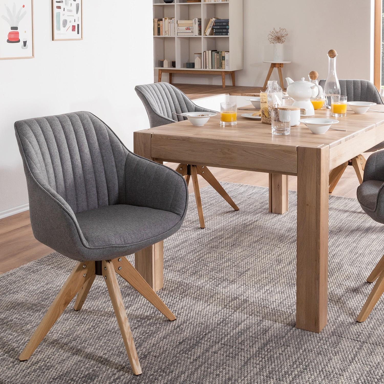 Armlehnenstuhl Ermelo l | Küche und Esszimmer > Stühle und Hocker > Armlehnstühle | Grau | Textil - Massivholz | Moerteens