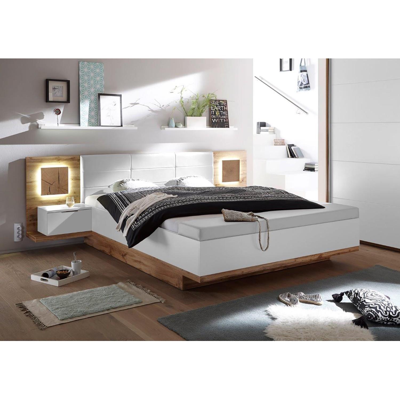 Schlafzimmermöbel - Bettanlage Lentia (3-teilig) - Fredriks - Beige