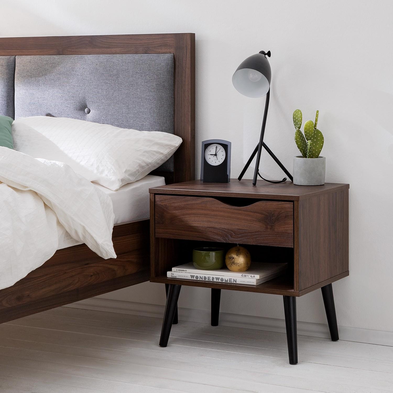 Schlafzimmermöbel - Nachtkommode Gjora I - Moerteens - Braun