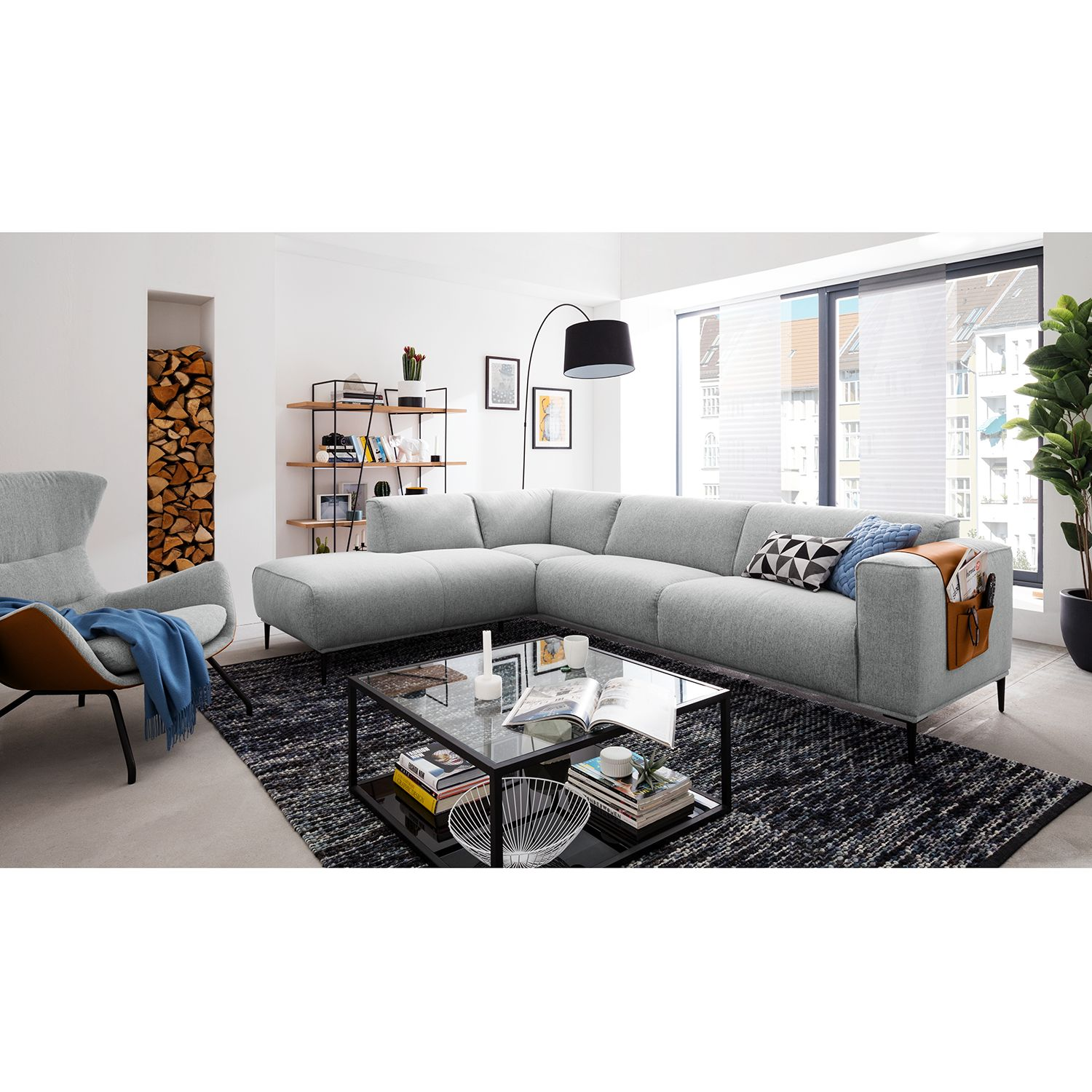 home24 Ecksofa Crawford Iii Webstoff